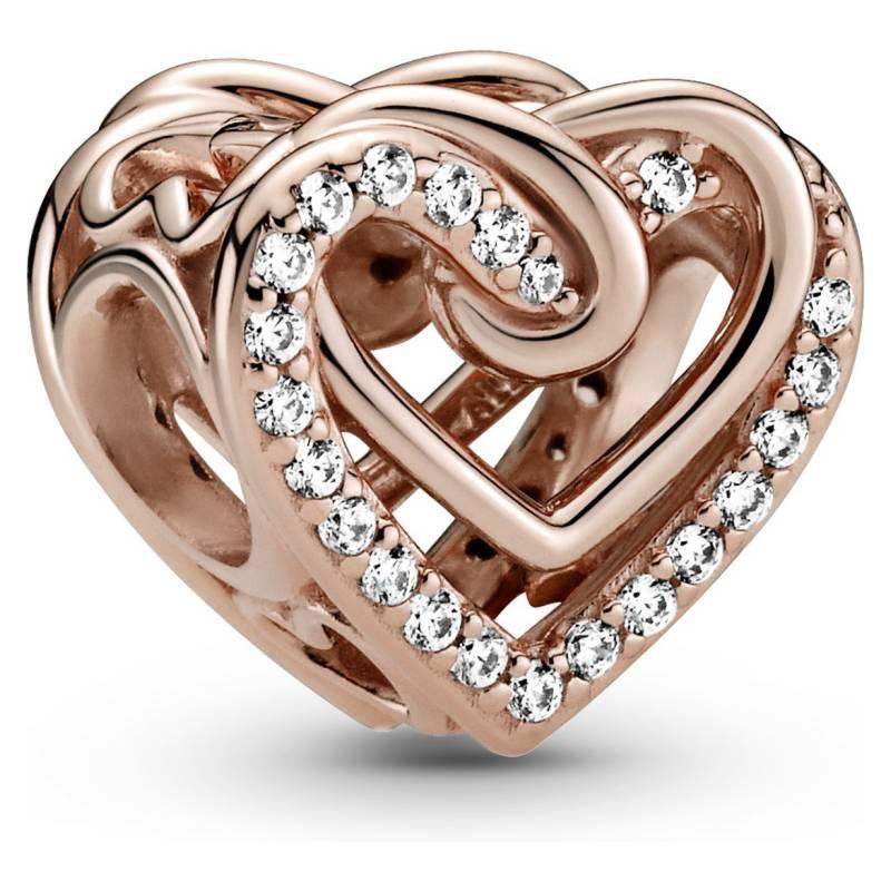 PANDORA - charm de plata corazones