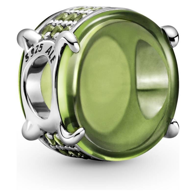 PANDORA - charm cabujon de plata cristales