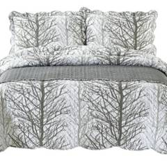 MALLORCA - Quilt Con Piecera Forest King