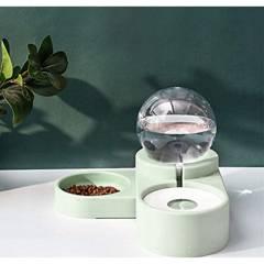 USA - Dispensador Agua Automático Y Plato Para Mascotas