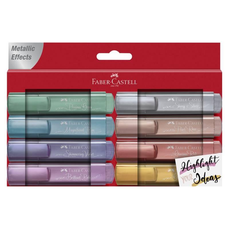 FABER - Destacador 46 Metallic Wallet Of 8 Carton
