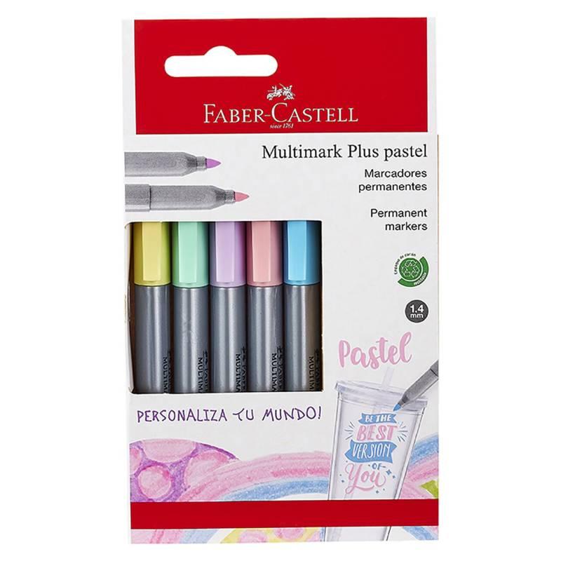 FABER - Marcador Multimark Plus Colores Pastel X5