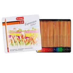 Bruynzeel - Lápices Expression 24 Colores Caja Metálica
