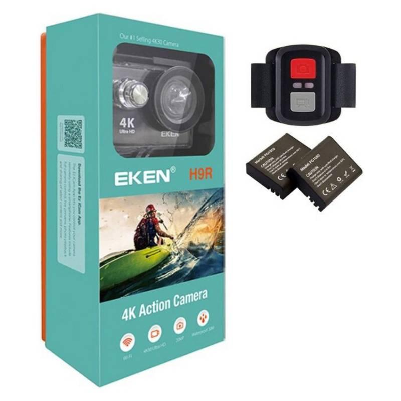 Eken - Cámara Deportiva Eken H9R 4K Uhd Wifi 2 Baterias