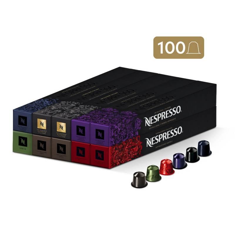 Nespresso - Cápsulas de Café Pack Intenso - 100 unidades