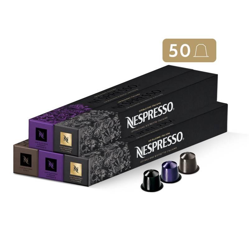 Nespresso - Cápsulas de Café Pack Intenso - 50 unidades