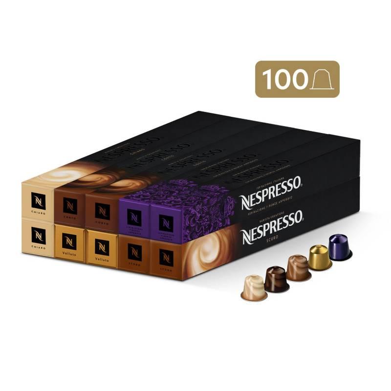 Nespresso - Cápsulas de Café Pack Desayuno - 100 unidades