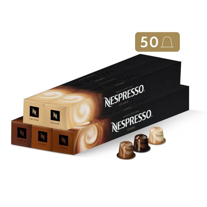 NESPRESSO - Cápsulas de Café Pack Desayuno - 50 unidades