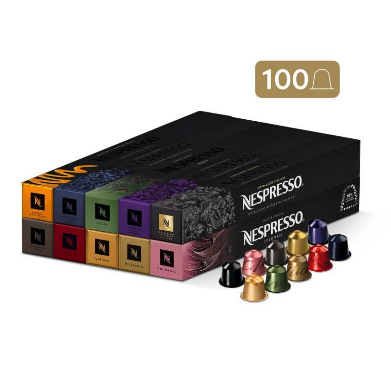 Nespresso - Cápsulas de Café Pack Favoritos - 100 unidades