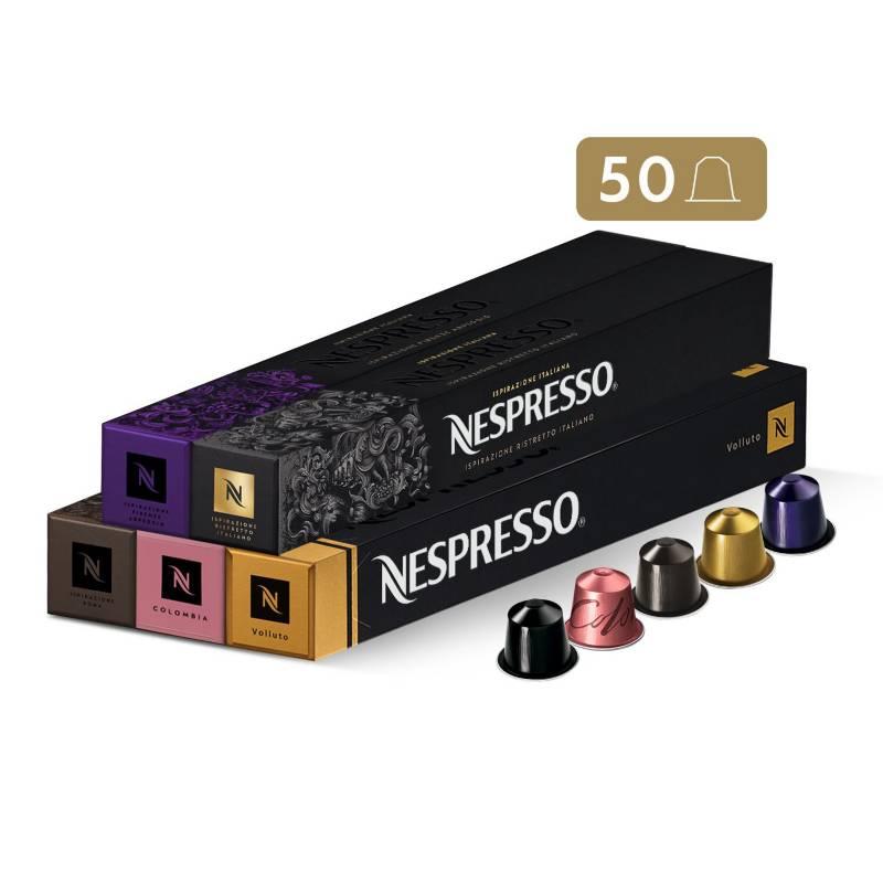 NESPRESSO - Cápsulas de Café Pack Favoritos - 50 unidades