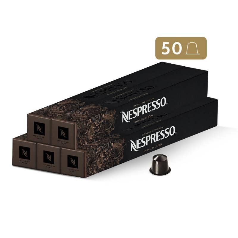 Nespresso - Cápsulas de Café Roma - 50 unidades