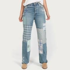 FREE PEOPLE - Jeans Regualar Tiro Alto Mujer
