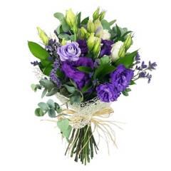 Regalar Flores - Ramo Lisianthus y Rosas
