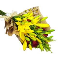 Regalar Flores - Ramo Lilium y Rosas