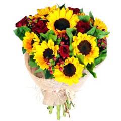 Regalar Flores - Ramo Girasoles y Rosas