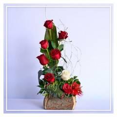 Regalar Flores - Arreglo Blanco y Rojo