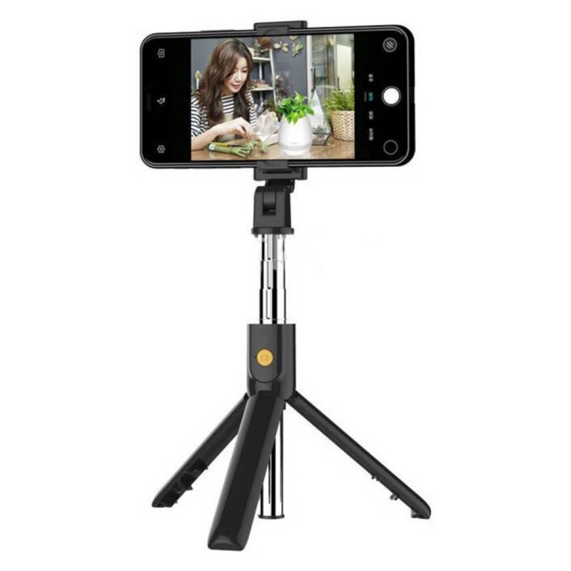Generico - Bluetooth Selfie Stick Trípode Negro