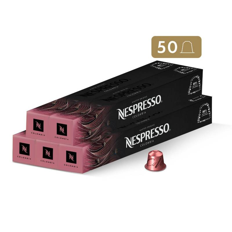 Nespresso - Cápsulas de Café Colombia - 50 unidades