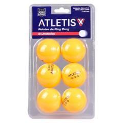 ATLETIS - Set de 6 Pelotas de Ping Pong 3 Estrellas
