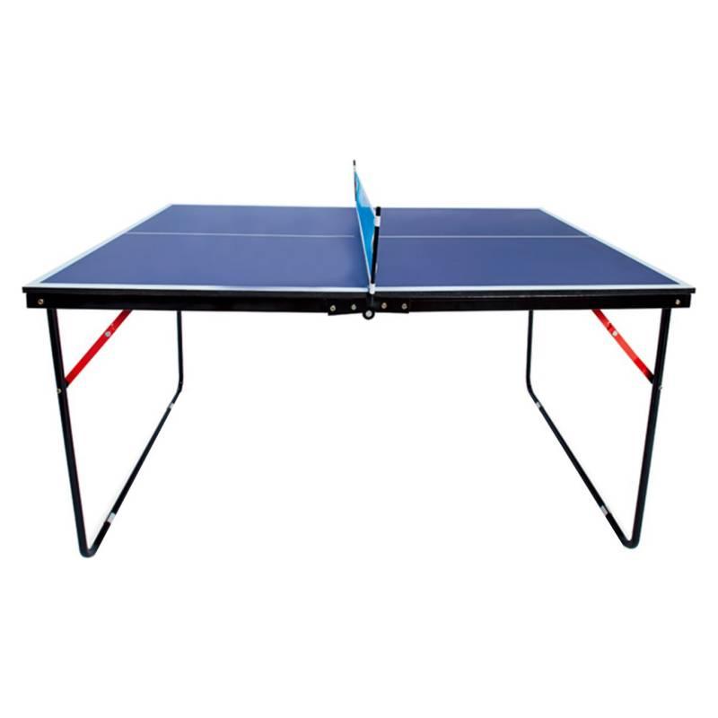 ATLETIS - Mini Mesa de Ping Pong Portátil Azul