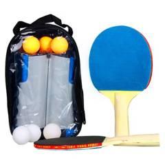 ATLETIS - Set Red Ping Pong Portátil 2 Paletas Y 6 Pelotas