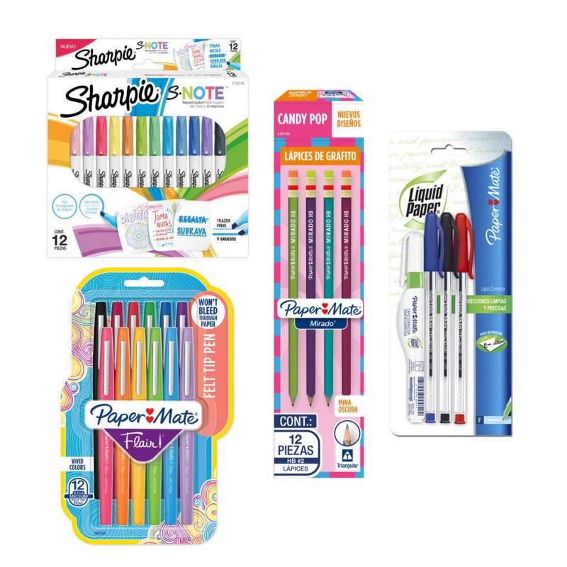 SHARPIE - Pack Escolar Multicolor Todo En Uno