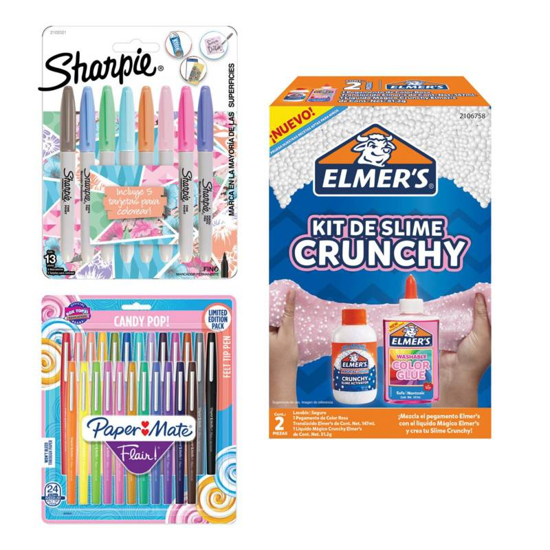 SHARPIE - Pack Regalo Marcadores Sharpie  Kit Slime Elmers
