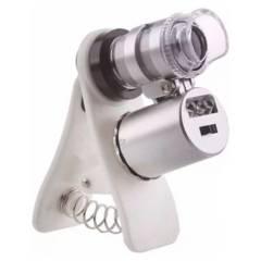 GENERICO - Microscopio 60X Con Luz Uv/Blanca Con Clip Para Ce