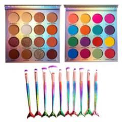 Cosmeticav - Brochas De Maquillaje  2 Paletas De Sombras