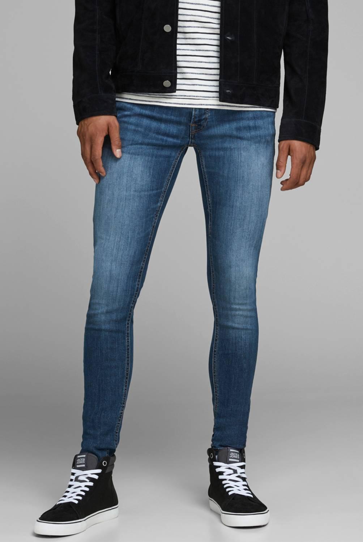 JACK AND JONES - Jeans Super Skinny Básico Lavado Hombre