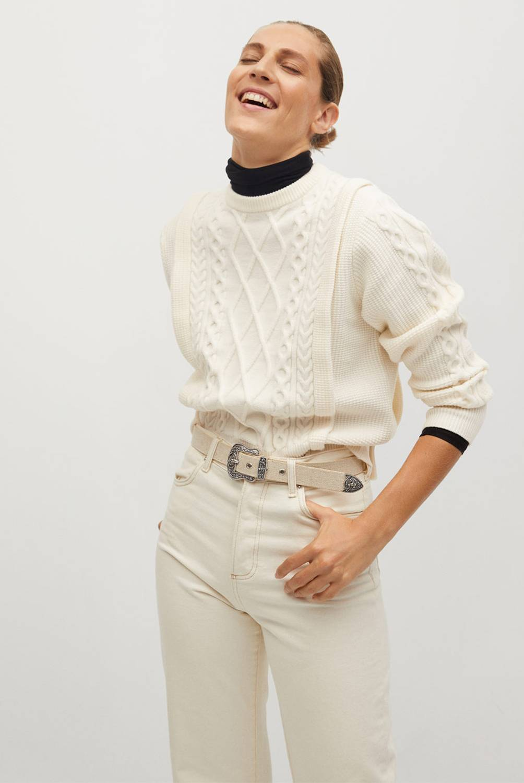 MANGO - Sweater Overall Mujer
