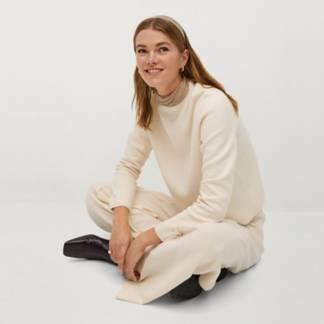 MANGO - Sweater Punto Fino Chimney Mujer