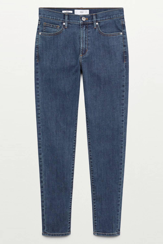 MANGO - Jeans Skinny Tiro Medio Elsa Mujer