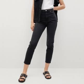 MANGO - Jeans Mom Tiro Alto Mujer