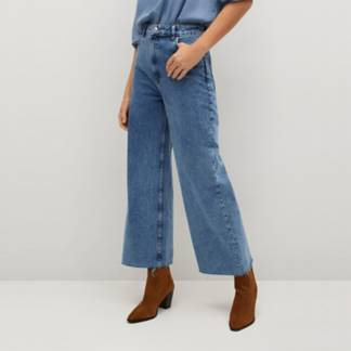 MANGO - Jeans Culotte Tiro Alto Caroline Mujer