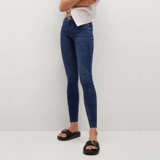 MANGO - Jeans Skinny Crop Isa Tiro Medio Isa