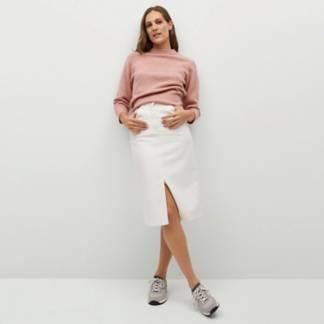 MANGO - Sweater Esplada Cruzada Arena Mujer