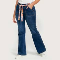 ELLE - Jeans Flare Tiro Alto Mujer