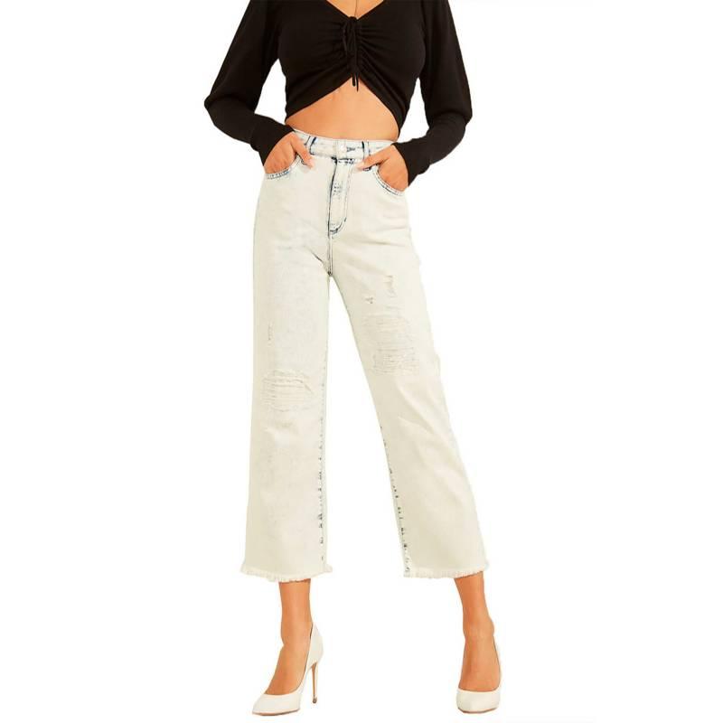 GUESS - Jeans Wide Leg Crop Loose Pcsd