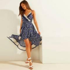 GUESS - Vestido  Sl Bali Print Flor Dress