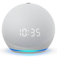 AMAZON - Amazon Echo dot 4 Blanco Con Reloj