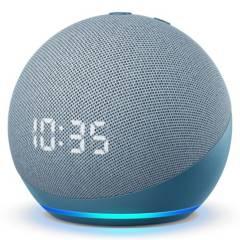 AMAZON - Amazon Echo dot 4 Azul Con Reloj