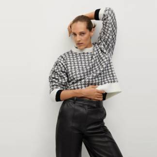 MANGO - Sweater Pata De Gallo Textura Eliseo Mujer