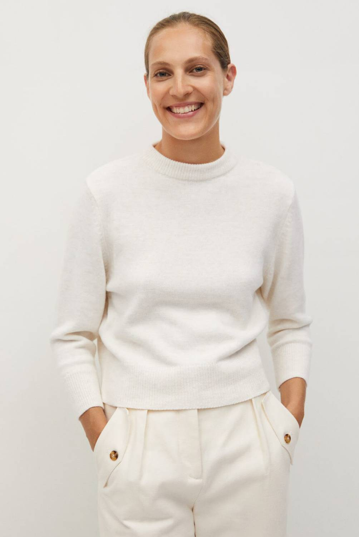 MANGO - Sweater Abertura Espalda Arenal Mujer