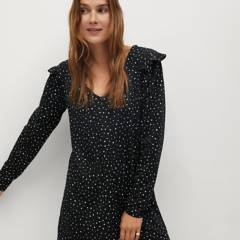 MANGO - Vestido Poliéster Reciclado Estampado Andra Mujer