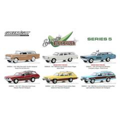 GREENLIGHT - 6 Autos Escala 1:64 Estate Wagons Series 5