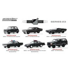 GREENLIGHT - 6 Autos Escala 1:64 Black Bandit Series 23