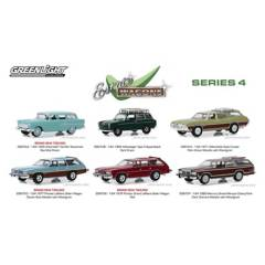 GREENLIGHT - 6 Autos Escala 1:64 Estate Wagons Series 4