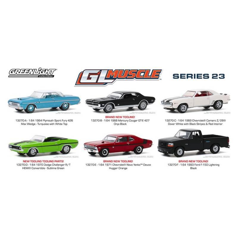 GREENLIGHT - 6 Autos Escala 1:64 Greenlight Muscle Series 23