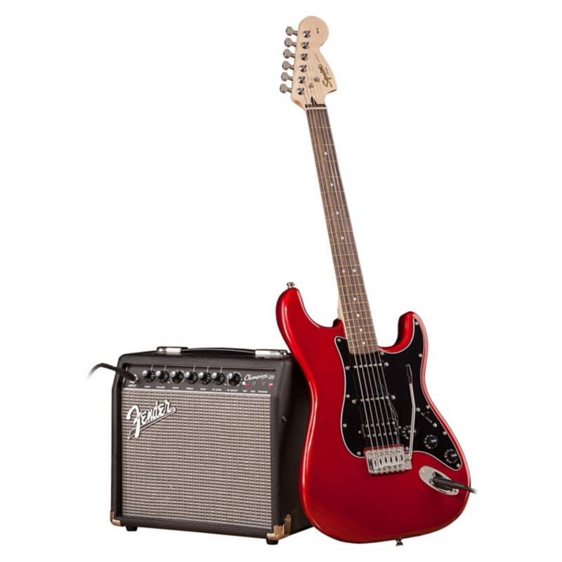 SQ FENDER - Pack Guitarra Fender Squier Stratocaster Affi Rojo